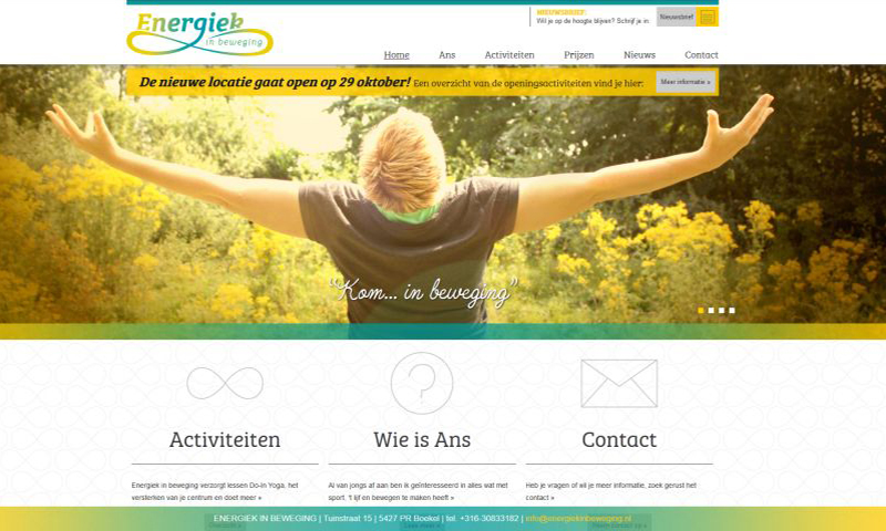 Portfolio responsive template website Energiek in beweging Boekel