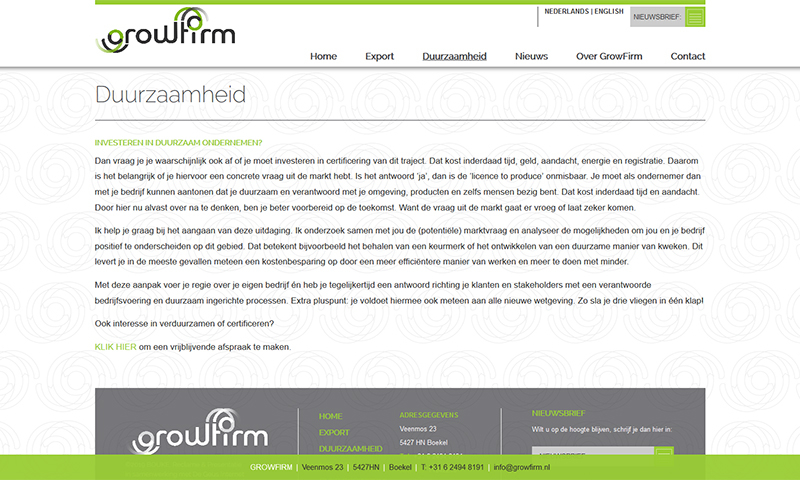 Webdesign Growfirm De Geus Internet