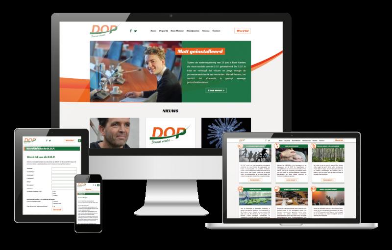 Website gemaakt voor DOP Boekel